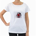 Metal Becomes Her Goth Ball Fantasy Maternity White T-Shirt