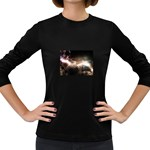 Goth Energy Explosion Fantasy Women s Long Sleeve Dark T-Shirt