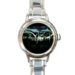 City of the Apocalypse Goth Night Round Italian Charm Watch