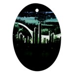City of the Apocalypse Goth Night Ornament (Oval)