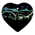 City of the Apocalypse Goth Night Ornament (Heart)