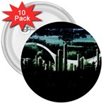 City of the Apocalypse Goth Night 3  Button (10 pack)