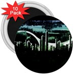 City of the Apocalypse Goth Night 3  Magnet (10 pack)