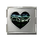 City of the Apocalypse Goth Night Mega Link Heart Italian Charm (18mm)