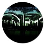 City of the Apocalypse Goth Night Magnet 5  (Round)