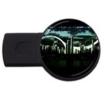City of the Apocalypse Goth Night USB Flash Drive Round (2 GB)