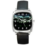 City of the Apocalypse Goth Night Square Metal Watch