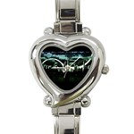City of the Apocalypse Goth Night Heart Italian Charm Watch