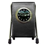 City of the Apocalypse Goth Night Pen Holder Desk Clock