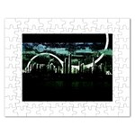City of the Apocalypse Goth Night Jigsaw Puzzle (Rectangular)