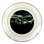 City of the Apocalypse Goth Night Porcelain Plate