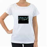 City of the Apocalypse Goth Night Maternity White T-Shirt