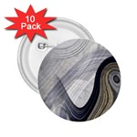 Gray Marble Fractal Fantasy Swirl 2.25  Button (10 pack)