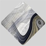 Gray Marble Fractal Fantasy Swirl Car Window Sign
