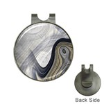 Gray Marble Fractal Fantasy Swirl Golf Ball Marker Hat Clip