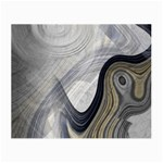 Gray Marble Fractal Fantasy Swirl Glasses Cloth