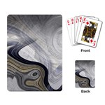 Gray Marble Fractal Fantasy Swirl Playing Cards Single Design