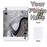 Gray Marble Fractal Fantasy Swirl Playing Cards 54 Designs