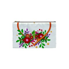Heart Flowers Sign Cosmetic Bag (small)