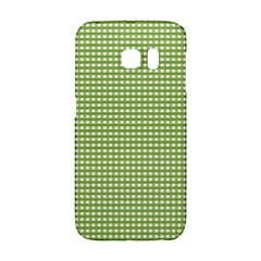 Gingham Check Plaid Fabric Pattern Galaxy S6 Edge by Nexatart