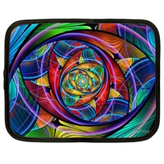Eye Of The Rainbow Netbook Case (xl)  by WolfepawFractals