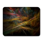 Pastel Spikes on Black Fractal Small Mousepad