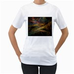 Pastel Spikes on Black Fractal Women s T-Shirt