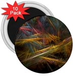 Pastel Spikes on Black Fractal 3  Magnet (10 pack)