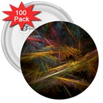 Pastel Spikes on Black Fractal 3  Button (100 pack)