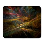 Pastel Spikes on Black Fractal Large Mousepad