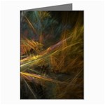 Pastel Spikes on Black Fractal Greeting Card