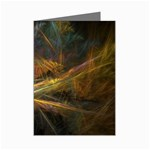Pastel Spikes on Black Fractal Mini Greeting Cards (Pkg of 8)
