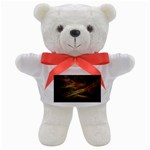 Pastel Spikes on Black Fractal Teddy Bear