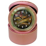 Pastel Spikes on Black Fractal Jewelry Case Clock