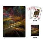 Pastel Spikes on Black Fractal Playing Cards Single Design