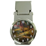 Pastel Spikes on Black Fractal Money Clip Watch