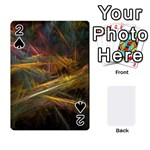 Pastel Spikes on Black Fractal Playing Cards 54 Designs