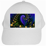 Blue Green Snails Under Sea Fractal White Cap