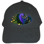 Blue Green Snails Under Sea Fractal Black Cap