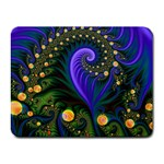 Blue Green Snails Under Sea Fractal Small Mousepad