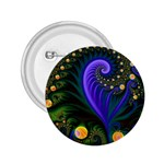 Blue Green Snails Under Sea Fractal 2.25  Button