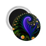 Blue Green Snails Under Sea Fractal 2.25  Magnet