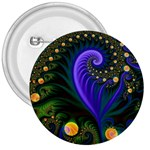 Blue Green Snails Under Sea Fractal 3  Button