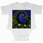 Blue Green Snails Under Sea Fractal Infant Creeper