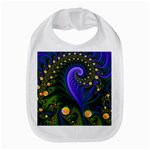 Blue Green Snails Under Sea Fractal Bib