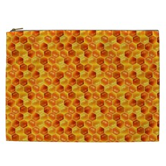 Honeycomb Pattern Honey Background Cosmetic Bag (xxl)