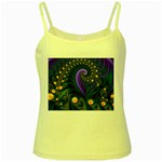 Blue Green Snails Under Sea Fractal Yellow Spaghetti Tank