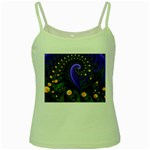 Blue Green Snails Under Sea Fractal Green Spaghetti Tank