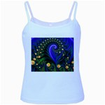 Blue Green Snails Under Sea Fractal Baby Blue Spaghetti Tank