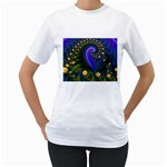 Blue Green Snails Under Sea Fractal Women s T-Shirt